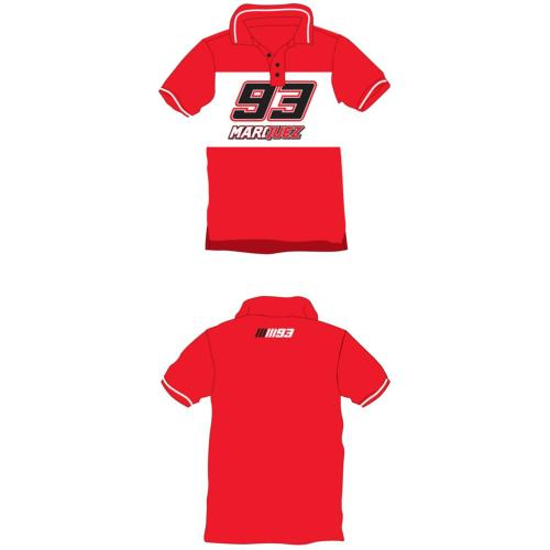 MM93 Marquez Kid Polo Rouge