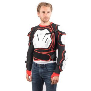 Armure de Protection Unisexe Cross Shield Rider-Tec Noir et Rouge