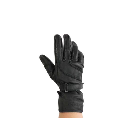 Gants de Moto Unisexe Winter Rider-Tec Cuir Noir