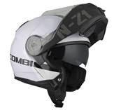 NZI - Casque Moto, Scooter Modulable - COMBI 2 DUO - Blanc brillant