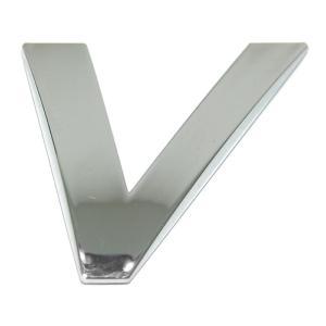 Lettre ''V'' 3D autocollante chromée