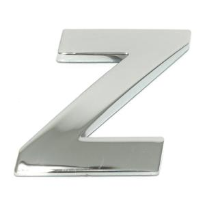 Lettre ''Z'' 3D autocollante chromée