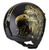 NZI - Casque Moto, Scooter Demi-Jet - TONUP - Or Mat