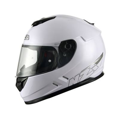 NZI - Casque Moto, Scooter Intégral - FUSION - Blanc brillant