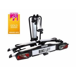 Porte-vélos 2 vélos (électriques) sur attelage avec système d'élévation Bike Lift - Eufab