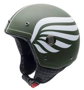 NZI - Casque Moto, Scooter Demi-Jet - TONUP GRAPHICS - Multicolore Mat