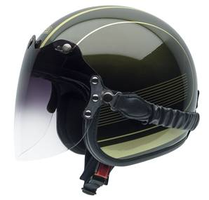 NZI - Casque Moto, Scooter Jet - ROLLING3 DUO GRAPHICS - Bicolore Brillant
