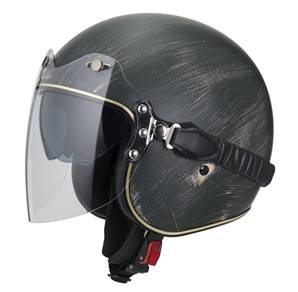 NZI - Casque Moto, Scooter Jet - ROLLING3 DUO GRAPHICS - Noir Oxyde