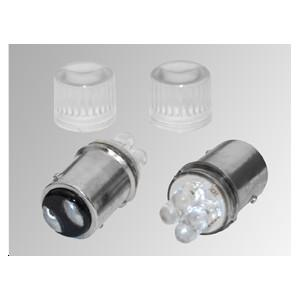 Ampoules 4 LEDs BA15D rouges