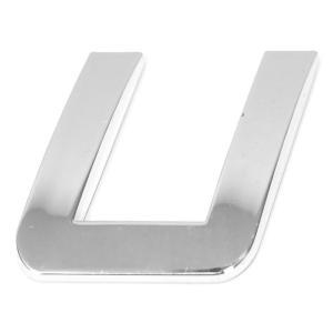 Lettre ''U'' 3D autocollante chromée