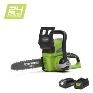 Tronçonneuse sans fil GREENWORKS 24V avec batterie et chargeur