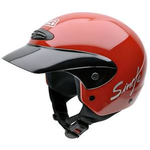 NZI - Casque Moto, Scooter Demi-Jet - SINGLE JR - Rouge brillant