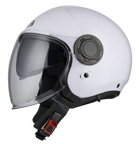 NZI - Casque Moto, Scooter Jet - RINGWAY DUO - Blanc brillant