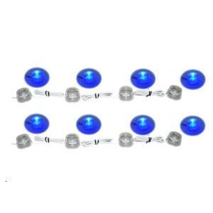 Guirlande de 4 LEDs (x2) bleues