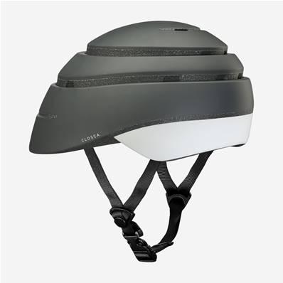 CLOSCA Casque de vélo sans visière pliable Graphite/Blanc Loop
