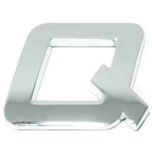 Lettre ''Q'' 3D autocollante chromée