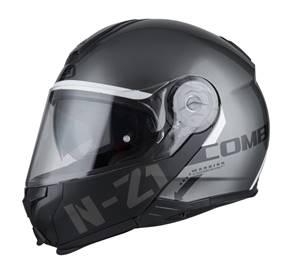 NZI - Casque Moto, Scooter Modulable - COMBI 2 DUO - Anthracite Brillant
