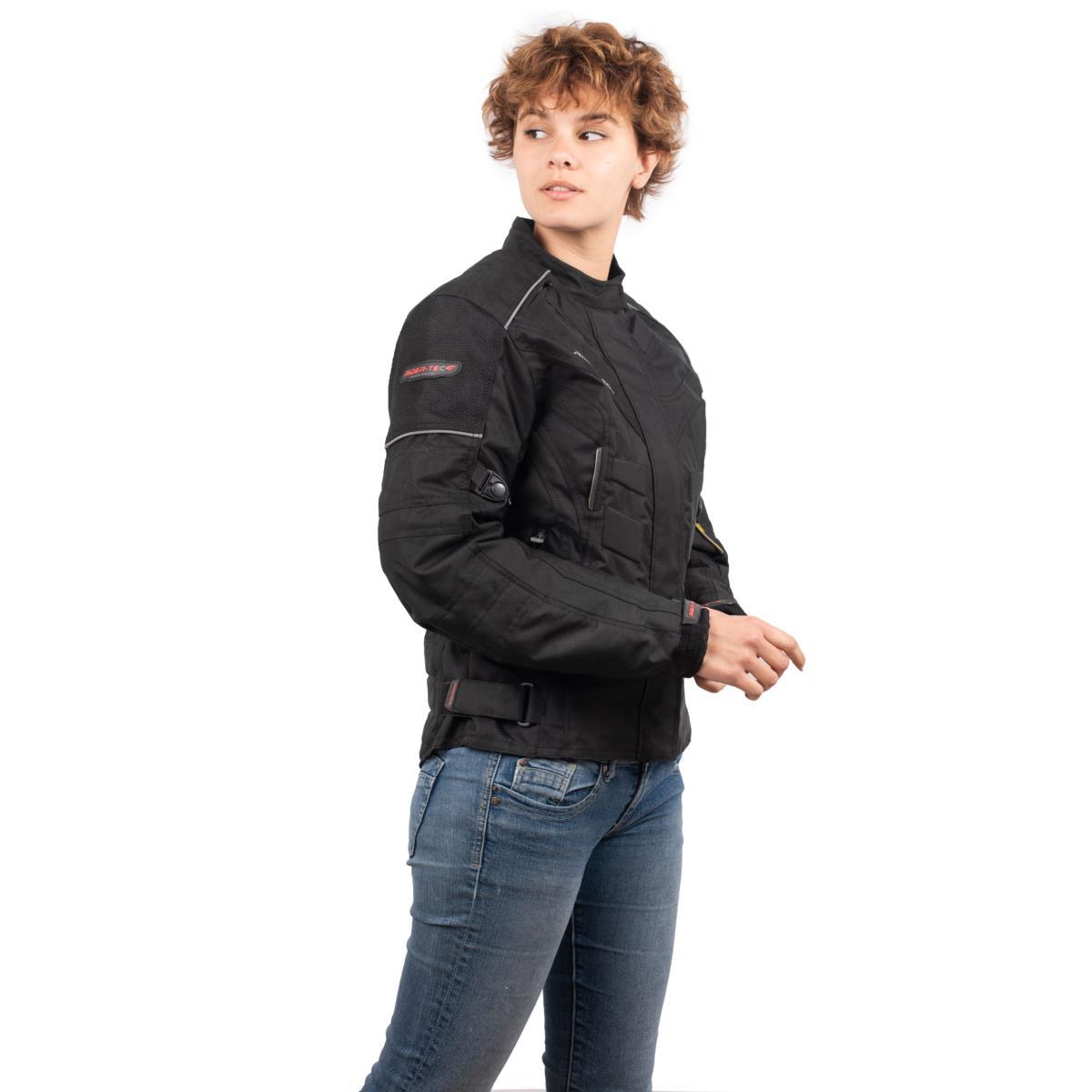 Blouson de Moto Femme Urban Lady Rider-Tec Textile Noir
