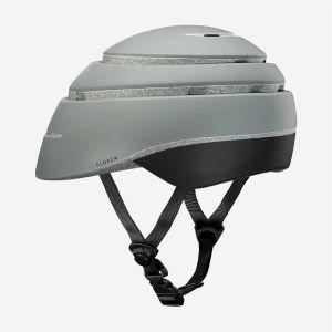 CLOSCA Casque de vélo sans visière pliable Gris/Noir LOOP