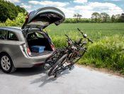 Porte-vélos 2 vélos sur attelage POKER F pliable et basculant - EUFAB