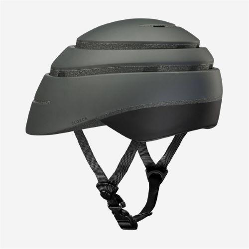 CLOSCA Casque de vélo sans visière pliable Graphite/Noir LOOP