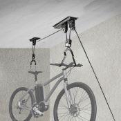 Support vélo à poulie EUFAB pour plafond maxi 20kg