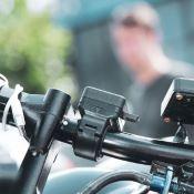 Support de smartphone sur guidon 22mm de moto
