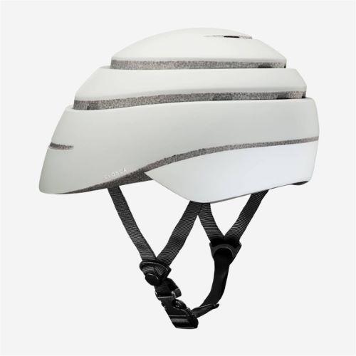 CLOSCA Casque de vélo sans visière pliable Perle/Réflechissant LOOP