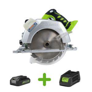Scie circulaire sans fil GREENWORKS 24V avec batterie et chargeur