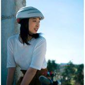 CLOSCA Casque de vélo sans visière pliable Perle/Noir LOOP