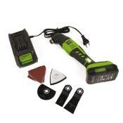 Découpeuse Ponceuse Scieuse sans fil GREENWORKS 24V avec batterie et chargeur