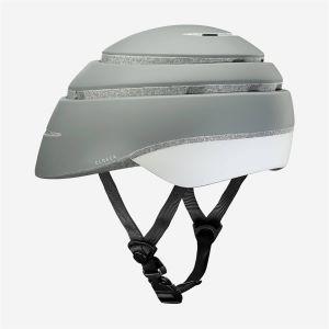 CLOSCA Casque de vélo sans visière pliable Gris/Réfléchissant LOOP