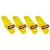 Cordes de haubanage réfléchissantes 4m 4 pièces