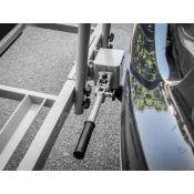Fixation rapide pour porte-vélos EUFAB avec cadenas