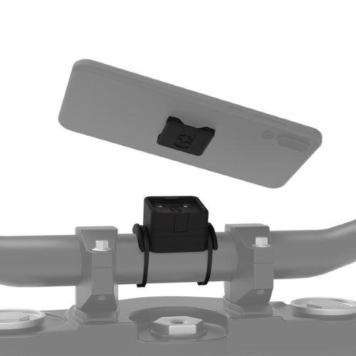 Support universel de smartphone tubulaire sur guidon de moto