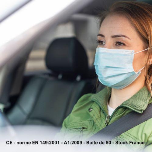 Protection Visage Jetable CE - Boite de 50 - Stock France