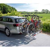 Porte-vélos 4 vélos sur attelage avec fixation rapide, basculant AMBER IV - Eufab