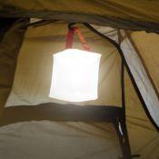 Lanterne de camping solaire gonflable