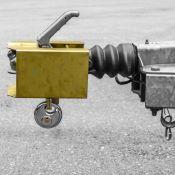 Antivol en acier pour tête d'attelage de remorque