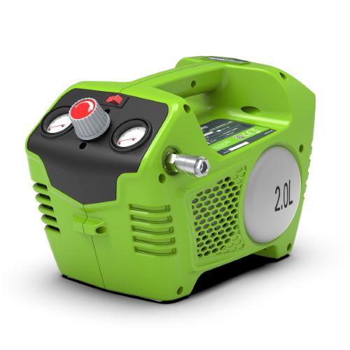 Compresseur d'air sur batterie GREENWORKS 24V (sans batterie ni chargeur)