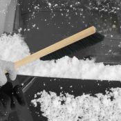 Brosse à neige avec poignée en bois