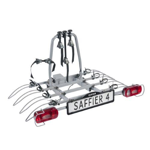 Porte-vélos 4 vélos sur attelage SAFFIER 4 basculant - EUFAB
