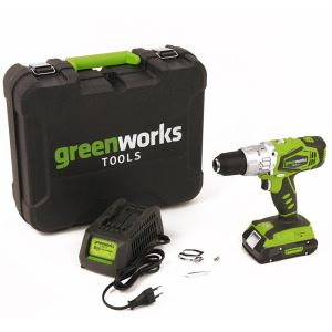 Perceuse à percussion sans fil GREENWORKS 24V avec batterie et chargeur