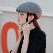 CLOSCA Casque de vélo sans visière pliable Gris/Bordeaux LOOP