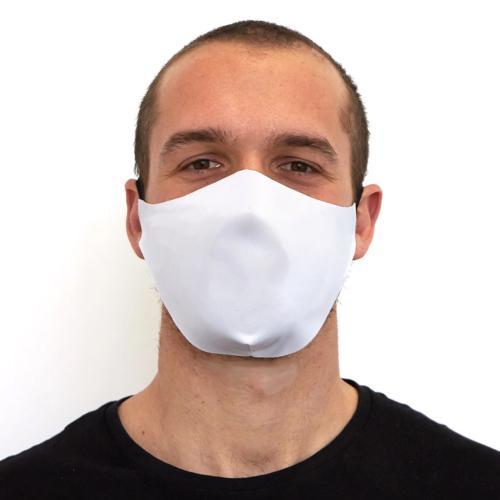 Masque Barrière en Tissu - Blanc (lot de 5)