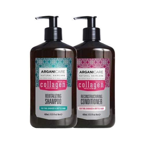 Duo Collagen Cheveux Fins Secs et Abîmés Arganicare