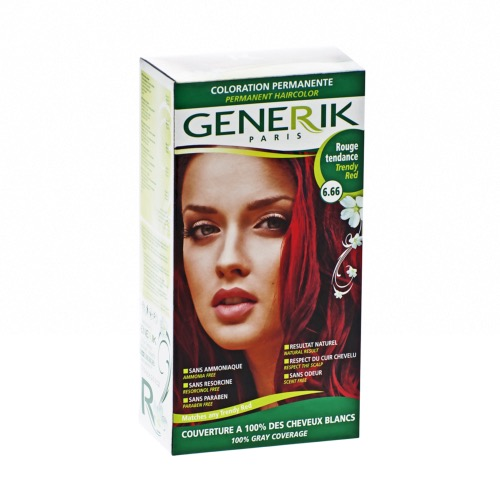 Kit Coloration Sans Ammoniaque Generik - N°6.66 Rouge Tendance