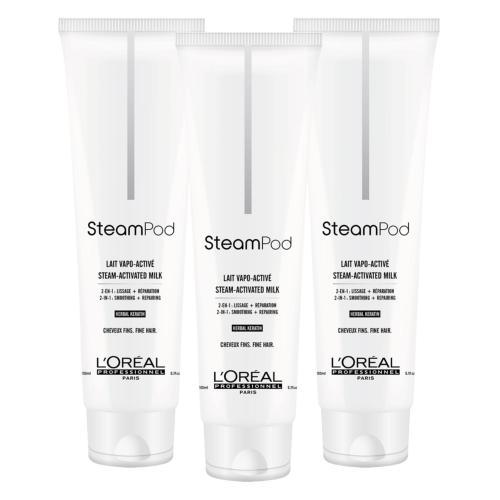 Lot de 3 Laits de Lissage Steampod Cheveux Fins 150ml
