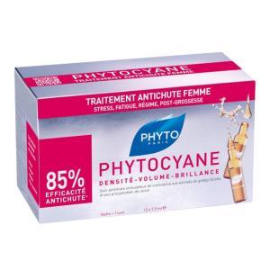 Phytocyane - Traitement AntiChute Femme - Phyto 12x7,5ml
