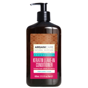 Soin Sans Rinçage Keratin Cheveux Bouclés Arganicare 400ml